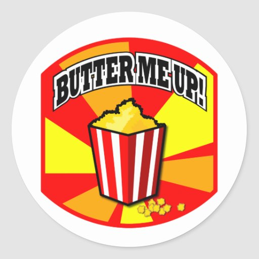 Butter Me Up! Classic Round Sticker