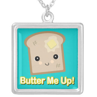 butter me up toast silver plated necklace