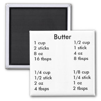 Butter measurements 2 inch square magnet