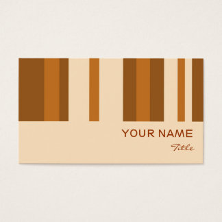 Butter Mint Stripe business card black vertical