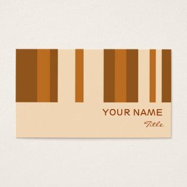 Professional Business Butter Mint Stripe business card black vertical