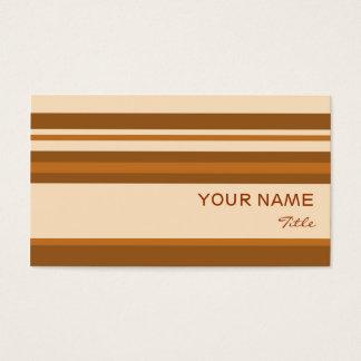 Butter Mint Stripe business card template