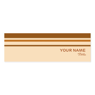 Butter Mint Stripe business card template skinny