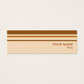 Butter Mint Stripe business card template skinny