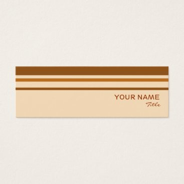 Professional Business Butter Mint Stripe business card template skinny