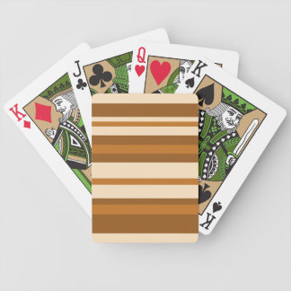 Butter Mint Stripe playing cards