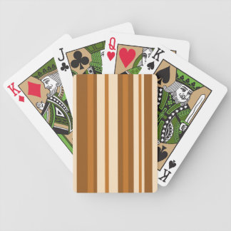Butter Mint Stripe playing cards vertical