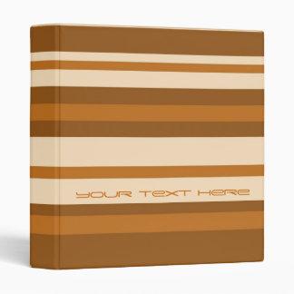 Butter Mint Stripe 'Your Text' binder