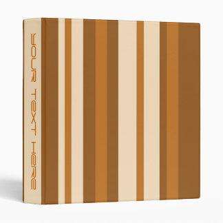 Butter Mint Stripe 'Your Text' binder long