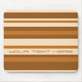 Butter Mint Stripe 'Your Text' mousepad