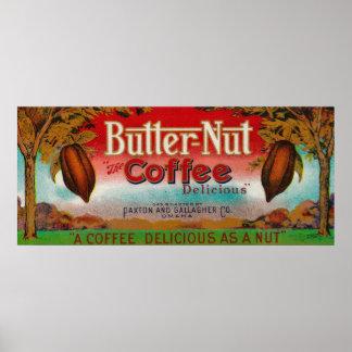 Butter Nut Coffee LabelOmaha, NE Print