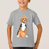Butter The Happy Beagle Playing in The Summer T-Shirt