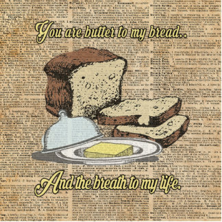 Butter to my bread.. Love Dictionary Art Statuette