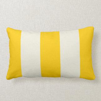 Butter Yellow and Ecru Stripe Pillow
