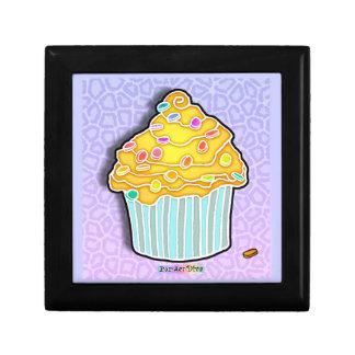 Butter Yellow & Blue Pop Art Cupcake Gift Box
