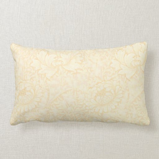 Butter Yellow floral outline Pillow Outline