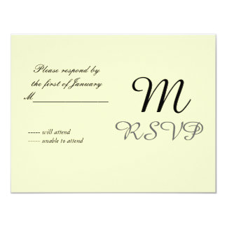 Butter Yellow Initial Reply Card