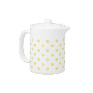 Butter Yellow Polka Dot Teapot