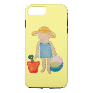 Butter Yellow Toddler Baby Girl at Beach iPhone 7 Plus Case