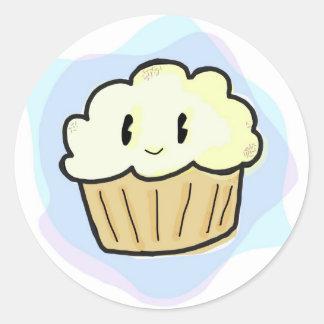 Buttercream Cupcake Classic Round Sticker