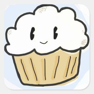 Buttercream Cupcake Square Sticker