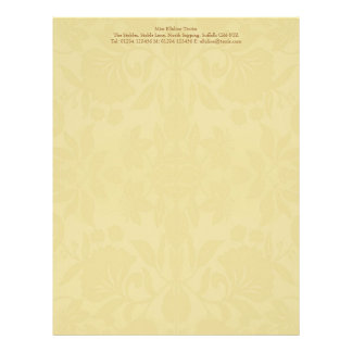 Buttercream Damask Stationery Letterhead Template