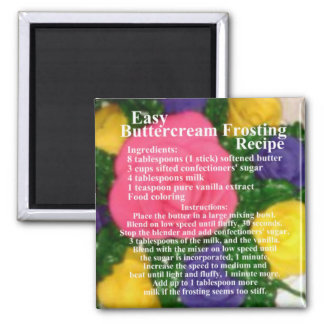 Buttercream Frosting Recipe Magnet