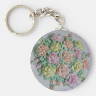 Buttercream icing roses keychain