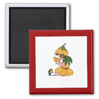 Buttercup 2 Inch Square Magnet