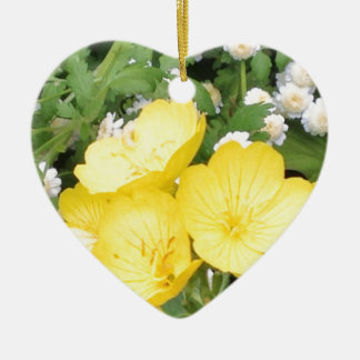 Buttercup and Babies Breath Ceramic Ornament
