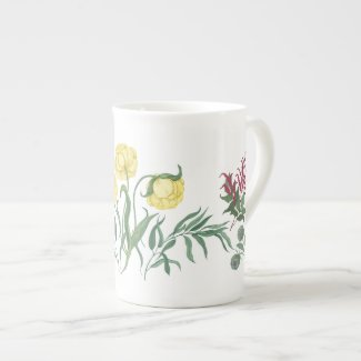 Buttercup and Berries Floral Mug