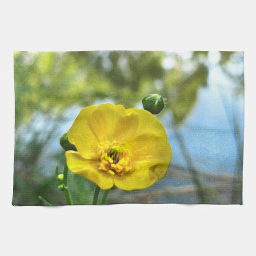 Buttercup at the Pond Hand Towel