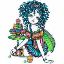 cup, cake, fairy, candy, faery, fae, faerie, fairies, pixie, kids, cute, rainbow, fantasy, art, fine, photo, sculpture, gothic, party, characters, Photo Sculpture with custom graphic design