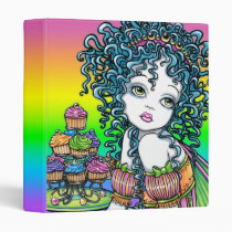 buttercup, rainbow, cup, cake, candy, couture, cute, party, children, curly, hair, fantasy, art, fairy, faerie, faery, fae, pixie, fairies, myka, jelina, faeries, nymphs, sprites, Binder with custom graphic design