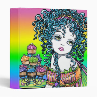 """""""Buttercup"""" Cup Cake Candy Couture Rainbow Fairy Binders"""
