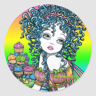 """""""Buttercup"""" Cup Cake Couture Fairy Art Stickers"""