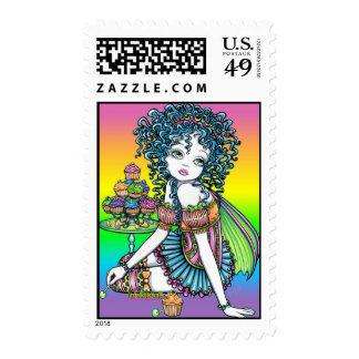 """Buttercup"" Cup Cake Couture Fairy Postage Stamps"