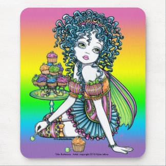 """""""Buttercup"""" Cup Cake Couture Rainbow Fairy Art Mouse Pad"""