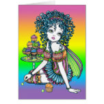 """""""Buttercup"""" Cup Cake Couture Rainbow Fairy Card"""