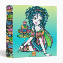 cup, cake, party, sucker, lolly, pop, fairy, binder, notebook, candy, rainbow, faerie, faery, fae, fairies, pixie, cute, buttercup, fantasy, art, myka, jelina, characters, Binder with custom graphic design