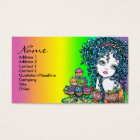 """""""Buttercup"""" Cup Cake Fairy Art Business Cards"""