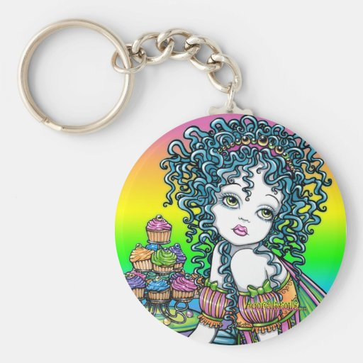 """""""Buttercup"""" Cup Cake Fairy Art Keychain"""