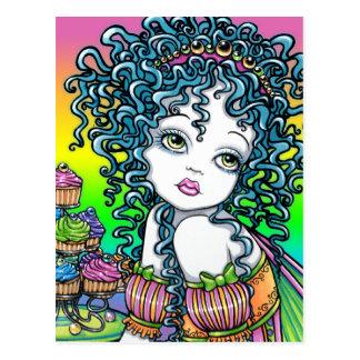 """Buttercup"" Cup Cake Fairy Art Postcard"
