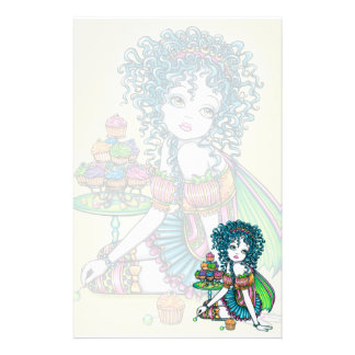 """""""Buttercup"""" Cup Cake Fairy Art Stationery"""