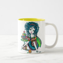 myka, jelina, rainbow, buttercup, cup, cakes, candy, kid, cute, flower, sucker, lolli, pop, lollie, butterfly, fairy, fae, faery, faerie, fairies, gothic, colorful, acrylic, Mug with custom graphic design