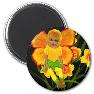 Buttercup Fairy 2 Inch Round Magnet
