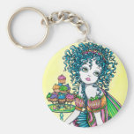 Buttercup Fairy Cup Cake Art Keychain