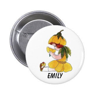Buttercup Flower Child Funny Cute Little Girl Pinback Button