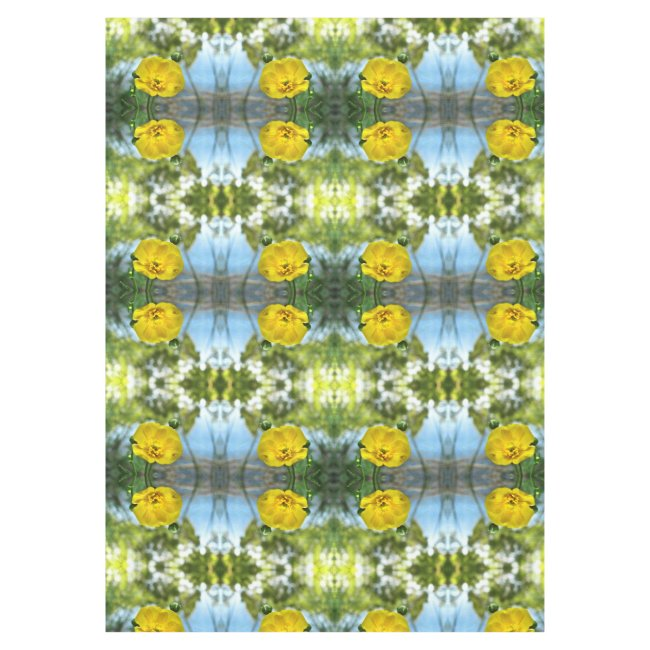 Buttercup Flowers Abstract Pattern Tablecloth