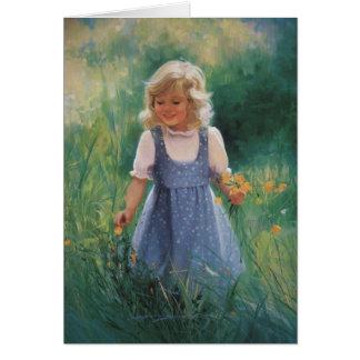 Buttercup Girl Card